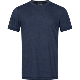 super.natural Essential T-shirt Heren, blue iris melange